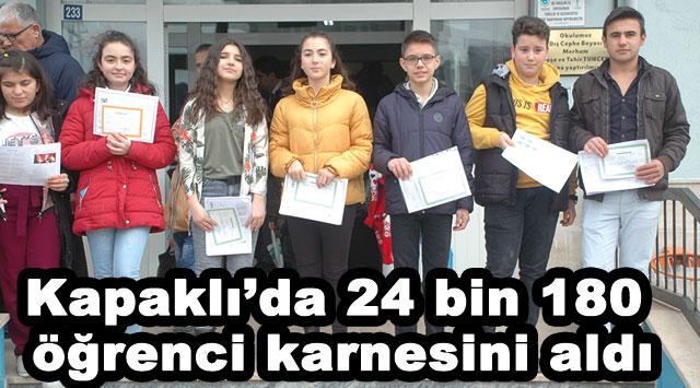 tekirdağ Kapaklı'da 24 bin 180 öğrenci karnesini aldı
