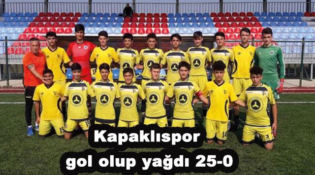 tekirdağ Kapaklıspor gol olup yağdı 25-0