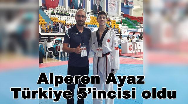 tekirdağ Alperen Ayaz Türkiye 5'incisi oldu