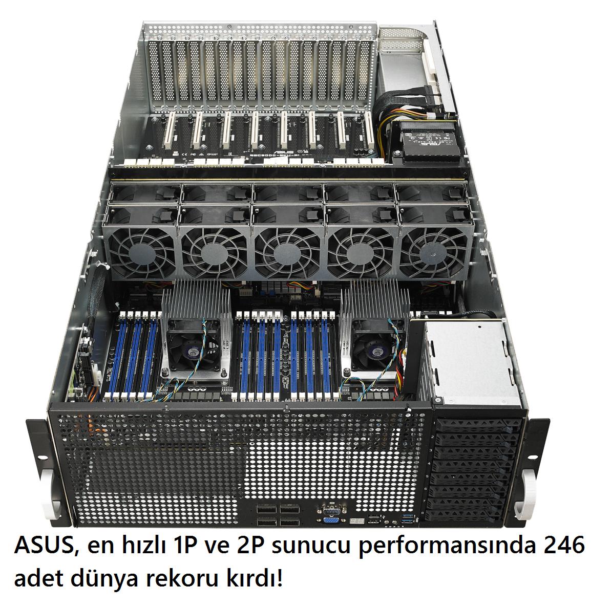 tekirdağ ASUS, en hızlı 1P ve 2P sunucu performansında 246 adet dünya rekoru kırdı!