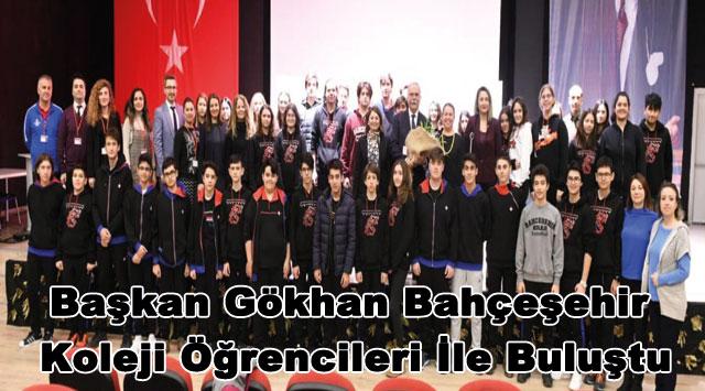 tekirdağ Başkan Gökhan Bahçeşehir Koleji Öğrencileri İle Buluştu