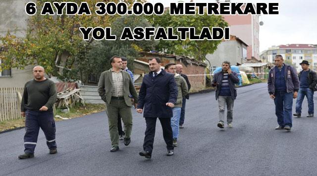 tekirdağ 6 AYDA 300.000 METREKARE YOL ASFALTLADI