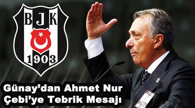 tekirdağ Günay'dan Ahmet Nur Çebi'ye Tebrik Mesajı