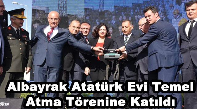 tekirdağ Albayrak Atatürk Evi Temel Atma Törenine Katıldı