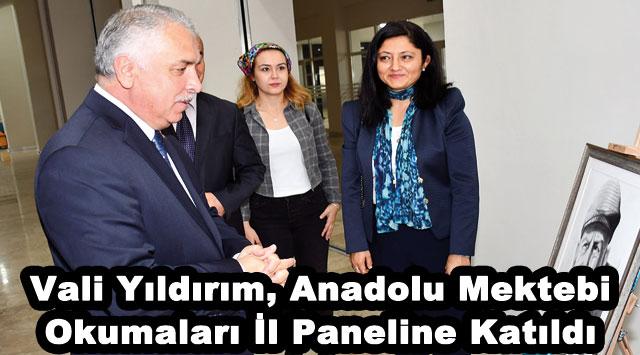 tekirdağ Vali Yıldırım, Anadolu Mektebi Okumaları İl Paneline Katıldı