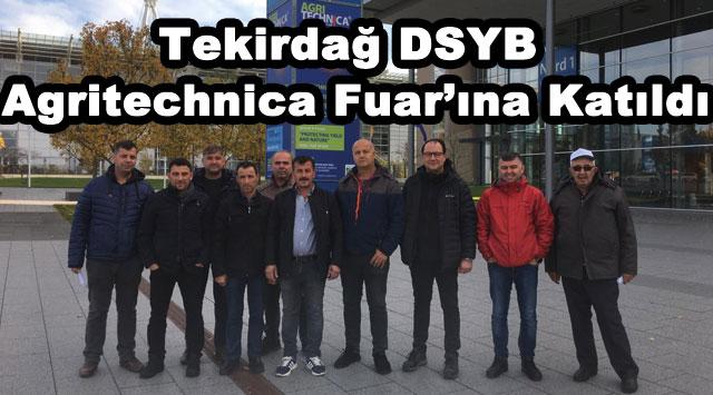 tekirdağ Tekirdağ DSYB, Agritechnica Fuar'ına Katıldı