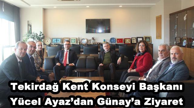 tekirdağ Tekirdağ Kent Konseyi Başkanı Yücel Ayaz'dan Günay'a Ziyaret