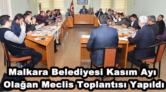 tekirdağ Malkara Belediyesi Kasım Ayı Olağan Meclis Toplantısı Yapıldı