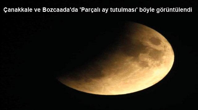 tekirdağ Çanakkale ve Bozcaada'da 'Parçalı ay tutulması' böyle görüntülendi
