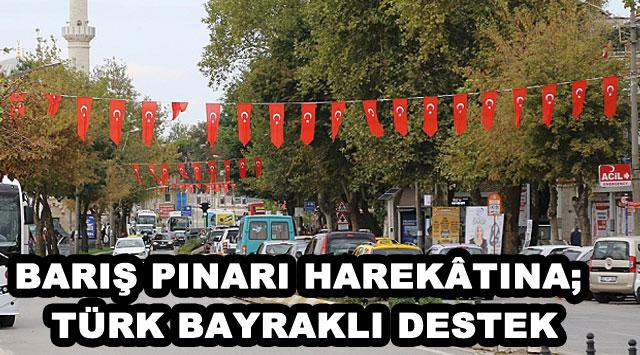 tekirdağ BARIŞ PINARI HAREKÂTINA; TÜRK BAYRAKLI DESTEK
