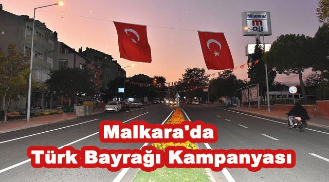 tekirdağ Malkara'da Türk Bayrağı Kampanyası