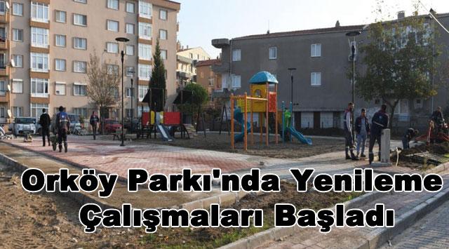 tekirdağ Orköy Parkı'nda Yenileme Çalışmaları Başladı