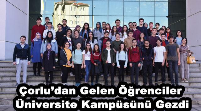 tekirdağ Çorlu'dan Gelen Öğrenciler Üniversite Kampüsünü Gezdi