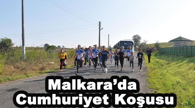 tekirdağ Malkara'da Cumhuriyet Koşusu