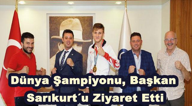 tekirdağ Dünya Şampiyonu Başkan Sarıkurt´u Ziyaret Etti