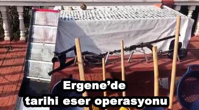 tekirdağ Ergene'de tarihi eser operasyonu