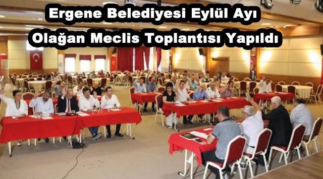 tekirdağ Ergene Belediyesi Eylül Ayı Olağan Meclis Toplantısı Yapıldı