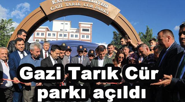tekirdağ Gazi Tarık Cür parkı açıldı