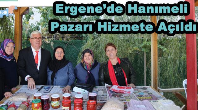 tekirdağ Ergene'de Hanımeli Pazarı Hizmete Açıldı