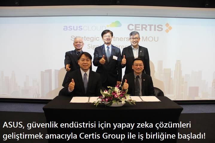tekirdağ ASUS, güvenlik endüstrisi için yapay zeka çözümleri geliştirmek amacıyla Certis Group ile iş birliğine başladı!