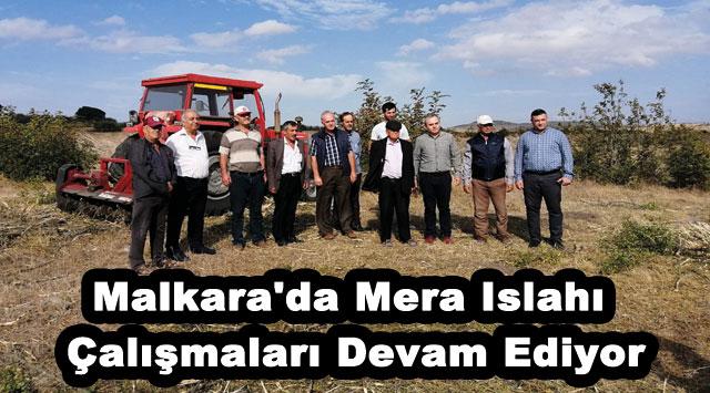 tekirdağ Malkara'da Mera Islahı Çalışmaları Devam Ediyor