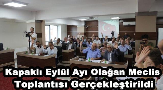 tekirdağ Kapaklı Eylül Ayı Olağan Meclis Toplantısı Gerçekleştirildi