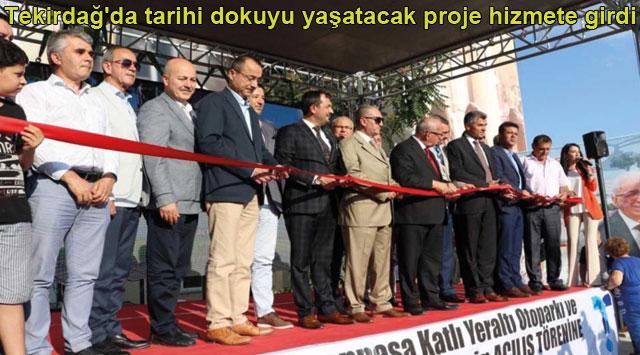 tekirdağ Tekirdağ'da tarihi dokuyu yaşatacak proje hizmete girdi