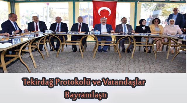 tekirdağ Tekirdağ Protokolü ve Vatandaşlar  Bayramlaştı