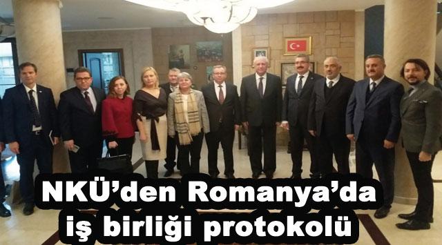 tekirdağ NKÜ'den Romanya'da iş birliği protokolü