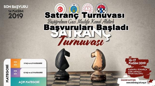 tekirdağ Satranç Turnuvası Başvuruları Başladı