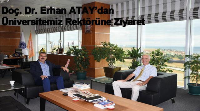 tekirdağ Doç. Dr. Erhan ATAY'dan Üniversitemiz Rektörüne Ziyaret