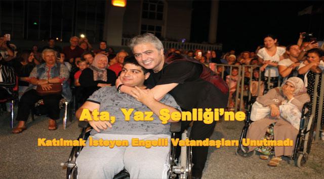 tekirdağ Ata, Yaz Şenliği'ne Katılmak İsteyen Engelli Vatandaşları Unutmadı