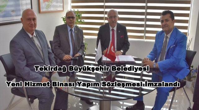tekirdağ Tekirdağ Büyükşehir Belediyesi Yeni Hizmet Binası Yapım Sözleşmesi İmzalandı
