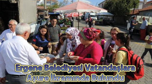 tekirdağ Ergene Belediyesi Vatandaşlara Aşure İkramında Bulundu