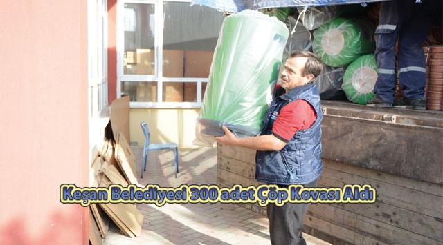 tekirdağ Keşan Belediyesi 300 adet Çöp Kovası Aldı