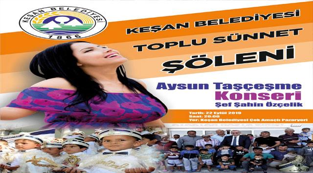 tekirdağ Keşan Belediyesi'nin Sünnet Şöleni 22 Eylül'de…