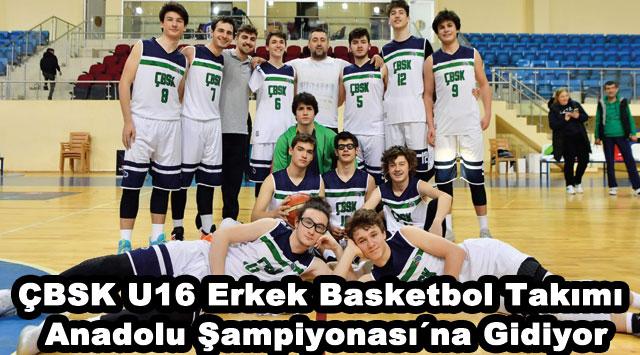 tekirdağ ÇBSK U16 Erkek Basketbol Takımı Anadolu Şampiyonası´na Gidiyor