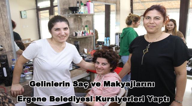 tekirdağ Gelinlerin Saç ve Makyajlarını Ergene Belediyesi Kursiyerleri Yaptı