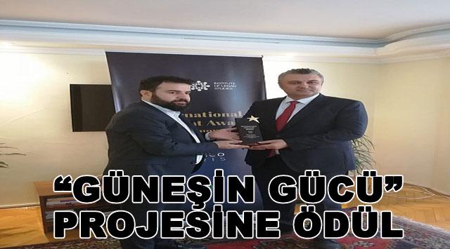 """tekirdağ  """"GÜNEŞİN GÜCÜ"""" PROJESİNE ÖDÜL"""