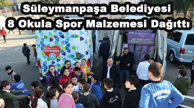 tekirdağ Süleymanpaşa Belediyesi 8 Okula Spor Malzemesi Dağıttı