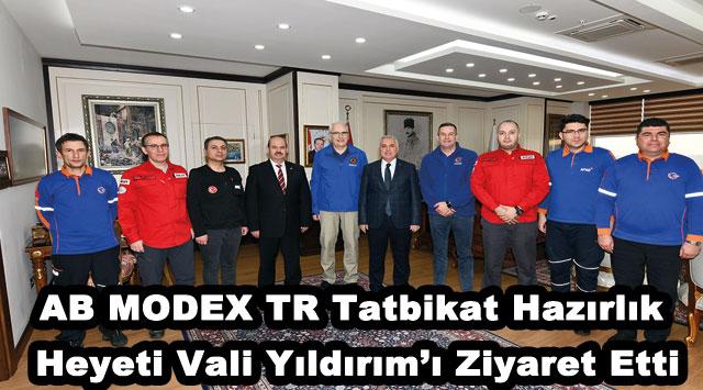 tekirdağ AB MODEX TR Tatbikat Hazırlık Heyeti Vali Yıldırım'ı Ziyaret Etti