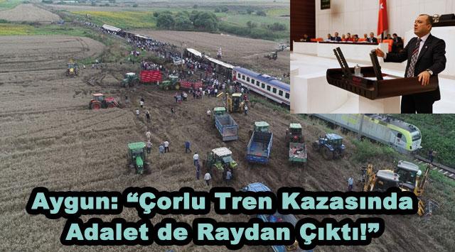 """tekirdağ Aygun: """"Çorlu Tren Kazasında Adalet de Raydan Çıktı!"""""""