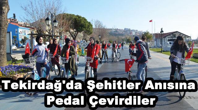 tekirdağ Tekirdağ'da, Şehitler Anısına Pedal Çevirdiler
