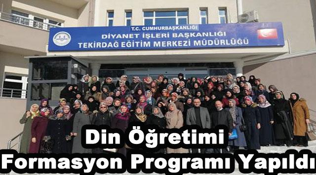 tekirdağ Din Öğretimi Formasyon Programı Yapıldı