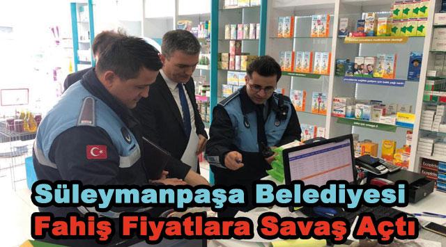 tekirdağ Süleymanpaşa Belediyesi Fahiş Fiyatlara Savaş Açtı