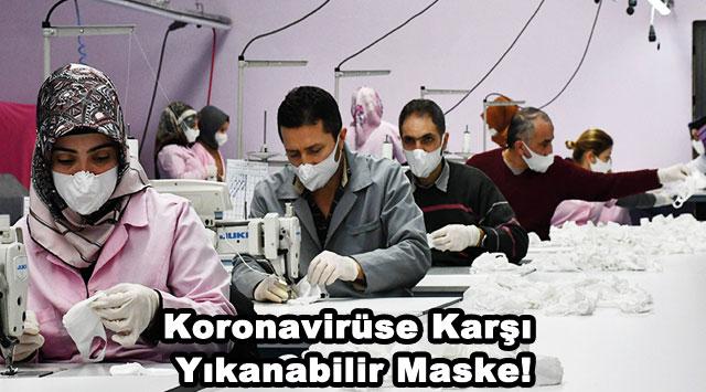 tekirdağ Koronavirüse karşı yıkanabilir maske!