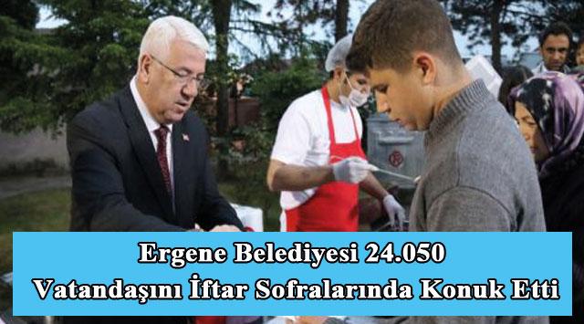 tekirdağ Ergene Belediyesi 24.050 Vatandaşını İftar Sofralarında Konuk Etti