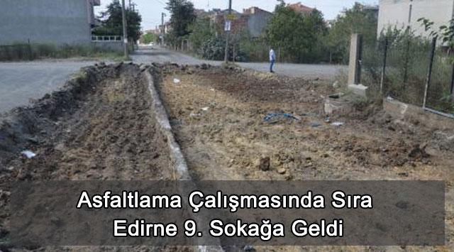 tekirdağ Asfaltlama Çalışmasında Sıra Edirne 9. Sokağa Geldi