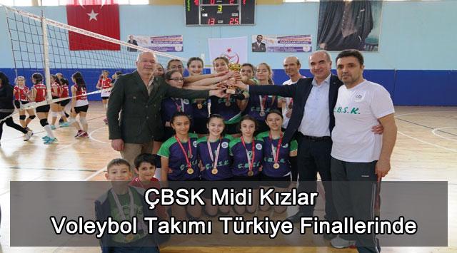 tekirdağ ÇBSK Midi Kızlar Voleybol Takımı Türkiye Finallerinde
