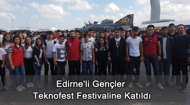 tekirdağ Edirne'li Gençler Teknofest Festivaline Katıldı